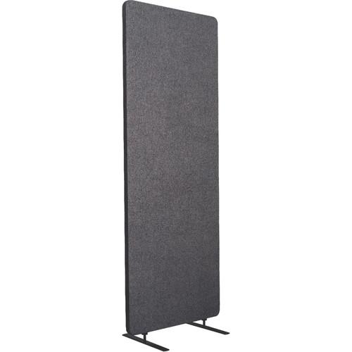 Luxor Reclaim Standalone Acoustic Room Divider Panel (Slate Gray)