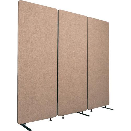 Luxor Reclaim Acoustic Room Divider Panel (3-Pack, Desert Sand)