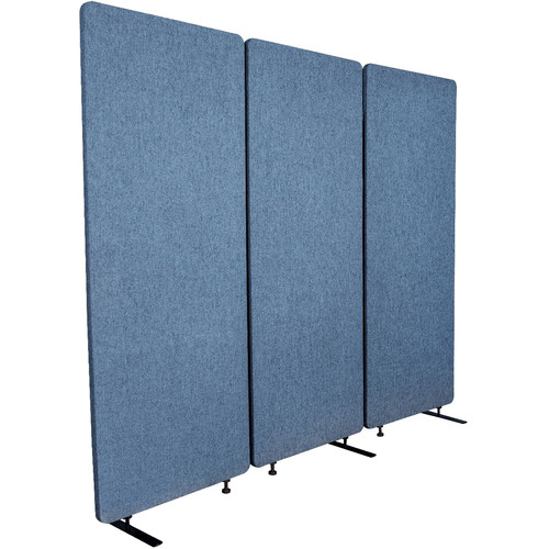 Luxor Reclaim Acoustic Room Divider Panel (3-Pack, Pacific Blue)