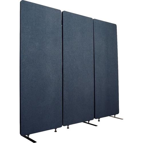 Luxor Reclaim Acoustic Room Divider Panel (3-Pack, Starlight Blue)