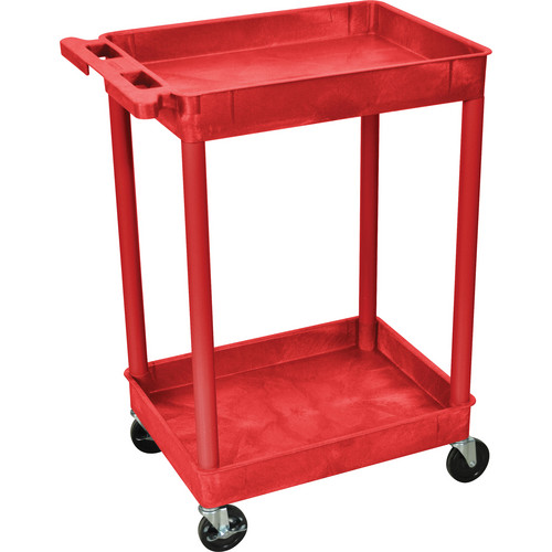 Luxor RDSTC11RD Tub Cart (2 Shelves, Red Finish)