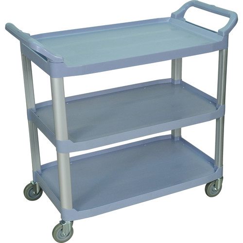 Luxor 3-Shelf Large Serving Cart (Gray)