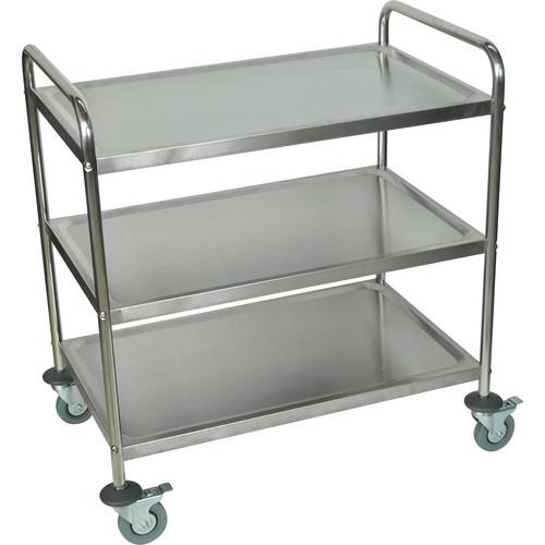 Luxor Stainless Steel 3-Shelf Cart