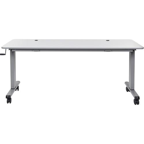 "Luxor 72"" Adjustable Flip-Top Table with Crank Handle"