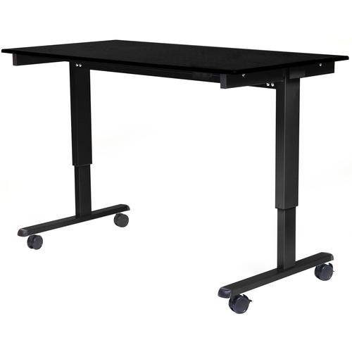 """Luxor 60"""" Electric Standing Desk (Black Oak, Black Frame)"""