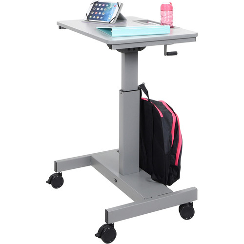 Luxor Student Sit/Stand Desk with Crank Handle