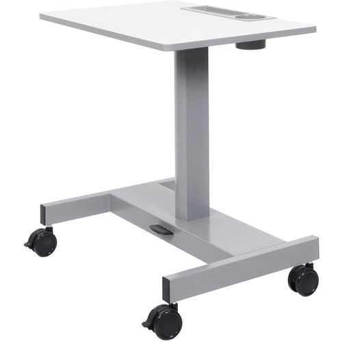 Luxor Student Sit/Stand Desk with Pneumatic Foot Pedal