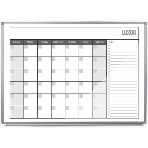 """Luxor 48 x 36"""" Magnetic Dry-Erase Monthly Calendar"""