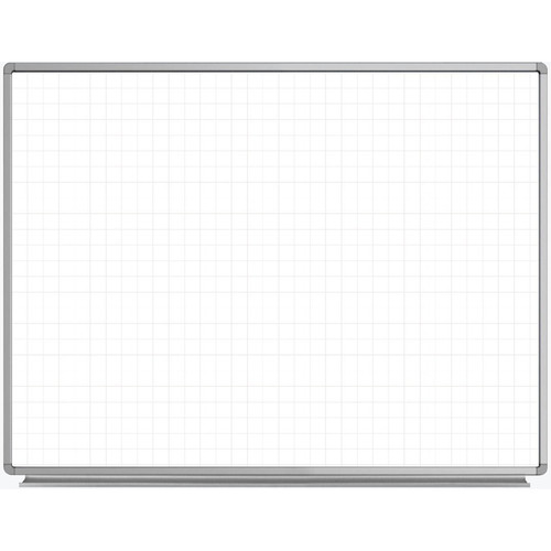 "Luxor 48 x 36"" Wall-Mounted Magnetic Ghost Grid Whiteboard"