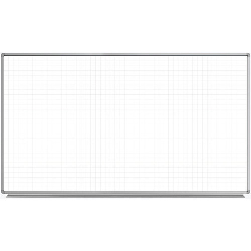 "Luxor 72 x 40"" Wall-Mounted Magnetic Ghost Grid Whiteboard"