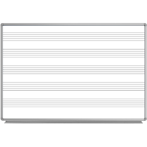 "Luxor 72 x 48"" Wall-Mount Music Whiteboard"