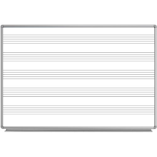 "Luxor 72 x 48"" Wall-Mount Music Whiteboard"
