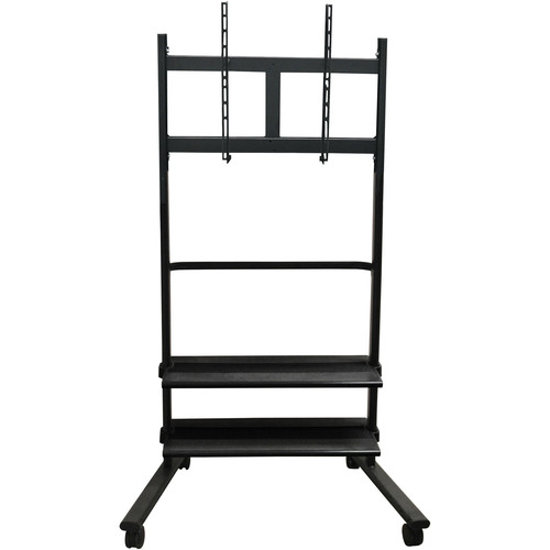 Luxor WFP200-B Universal LCD TV Stand with Two Shelves (Black)