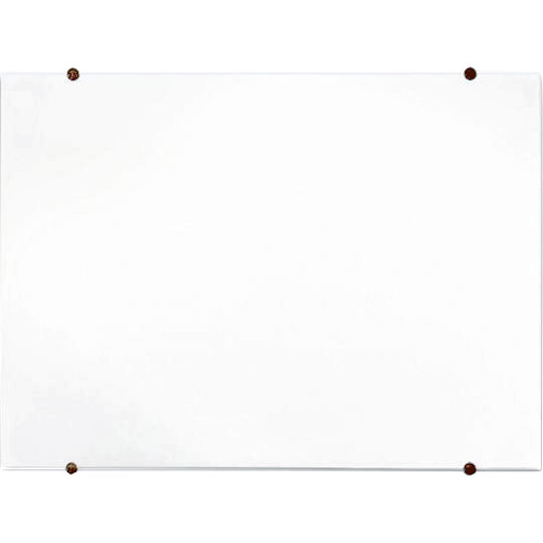 """Luxor Wall-Mountable Magnetic Glass Board (48 x 36"""")"""