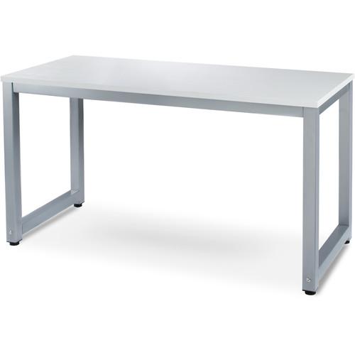 """Luxxetta 55x28x29.5"""" (WDH) Computer Desk (White/Gray)"""