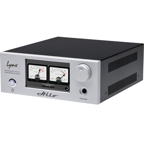 Lynx Studio Technology Hilo Reference A/D D/A Converter System with LT-DANTE Dante Card (Silver)