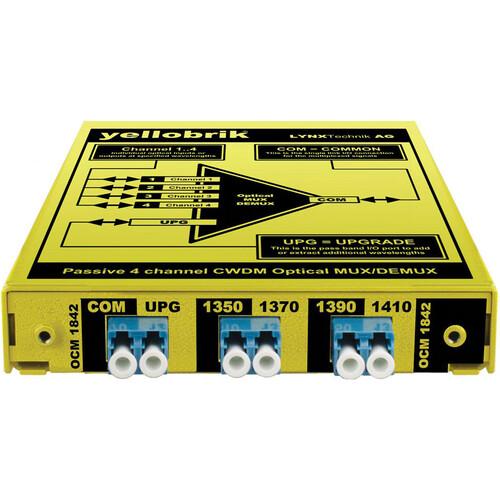 Lynx Technik AG yellobrik OCM 1842 4-Channel CWDM Optical Mux/Demux