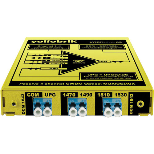 Lynx Technik AG yellobrik OCM 1843 4-Channel CWDM Optical Mux/Demux