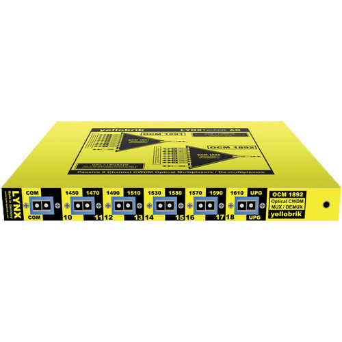 Lynx Technik AG yellobrik OCM 1892 9-Channel CWDM Optical Mux/Demux (1450 to 1610nm)