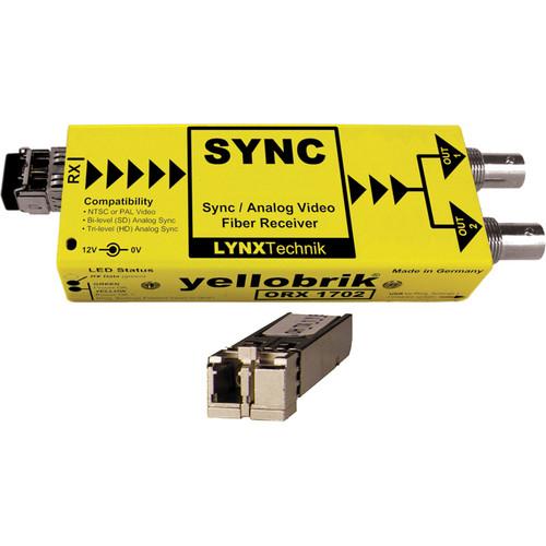 Lynx Technik AG yellobrik Analog Sync/Video Fiber Optic Receiver (Multi Mode LC Connection)