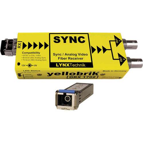 Lynx Technik AG yellobrik Analog Sync/Video Fiber Optic Receiver (Single Mode SC Connection)