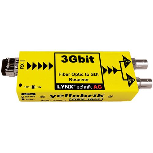 Lynx Technik AG 3 Gb Fiber Optic to SDI Receiver - Multimode LC Fiber