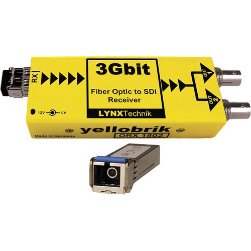 Lynx Technik AG yellobrik 3Gbit Fiber Optic to SDI Receiver (Single Mode SC Connection)