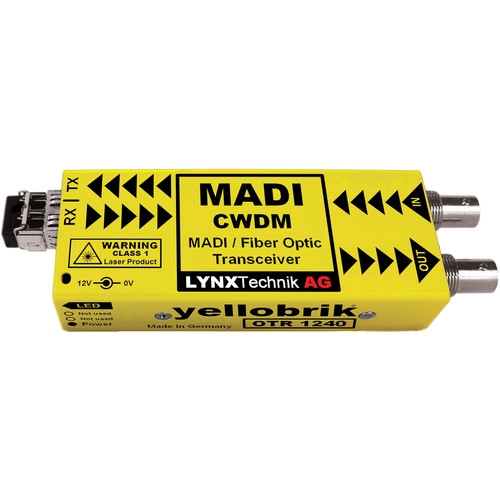 Lynx Technik AG MADI Optical to Coaxial Converter/Transceiver for CWDM Wavelengths