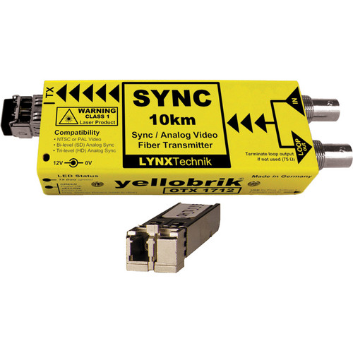 Lynx Technik AG yellobrik Analog Sync/Video Fiber Optic Transmitter (Multi Mode LC Connection)