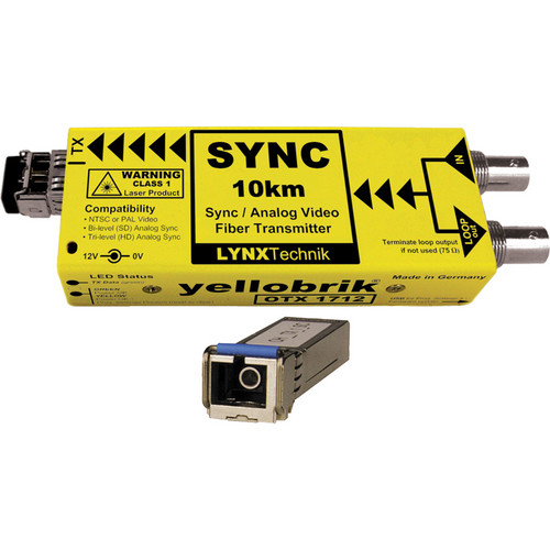 Lynx Technik AG yellobrik Analog Sync/Video Fiber Optic Transmitter (Single Mode SC Connection)