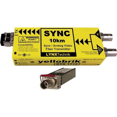 Lynx Technik AG yellobrik Analog Sync/Video Fiber Optic Transmitter (Single Mode ST Connection)
