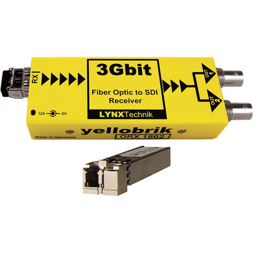 Lynx Technik AG yellobrik 3Gbit Fiber Optic to SDI Receiver (Single Mode LC Connection)