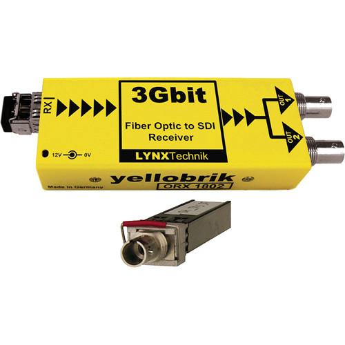 Lynx Technik AG yellobrik 3Gbit Fiber Optic to SDI Receiver (Single Mode ST Connection)
