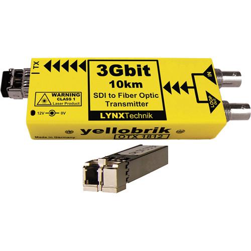 Lynx Technik AG yellobrik OTX 1812 3Gbit SDI to Fiber Optic Transmitter with LC Single-Mode Fiber Connection