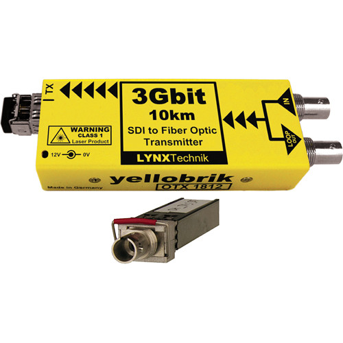 Lynx Technik AG yellobrik OTX 1812 3Gbit SDI to Fiber Optic Transmitter with ST Single-Mode Fiber Connection