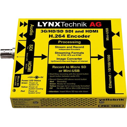 Lynx Technik AG yellobrik PEC 1864 3G-SDI/HDMI H.264 Streamer & Recorder