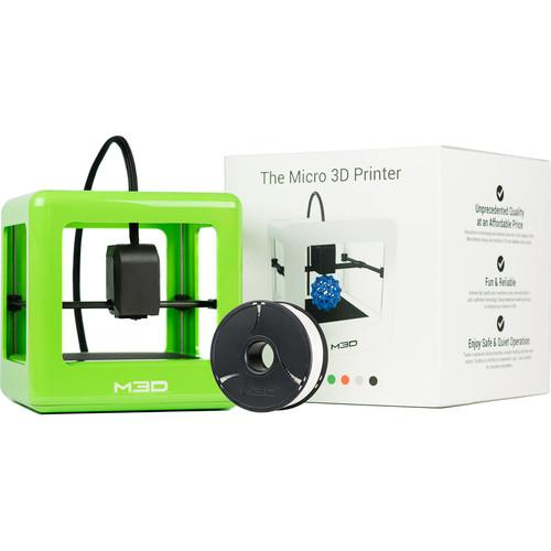 M3D Micro 3D Printer with PLA Neutral Filament Bundle Kit (Green, Retail Edition)