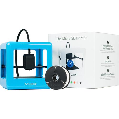 M3D Micro 3D Printer with PLA Neutral Filament Bundle Kit (Blue, Retail Edition)