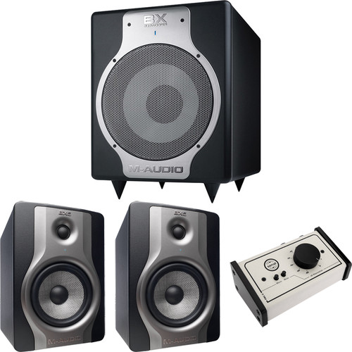 M-Audio BX5 Carbon Studio Monitors with Subwoofer and Monitor Controller Kit