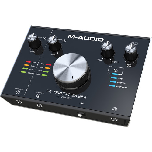 M-Audio M-Track 2X2M USB Interface with MIDI I/O