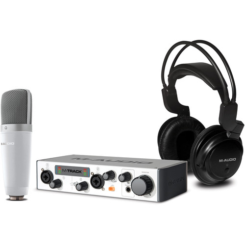 M-Audio Vocal Studio Pro II Bundle with USB Audio Interface, Microphone, Headphones, & Software