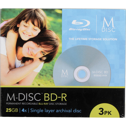 M-DISC 25GB BD-R 4x Discs (3-Pack)