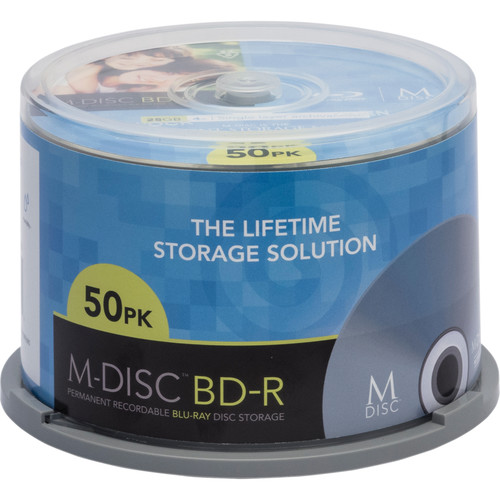 M-DISC 25GB BD-R 4x Discs (50-Pack Spindle)