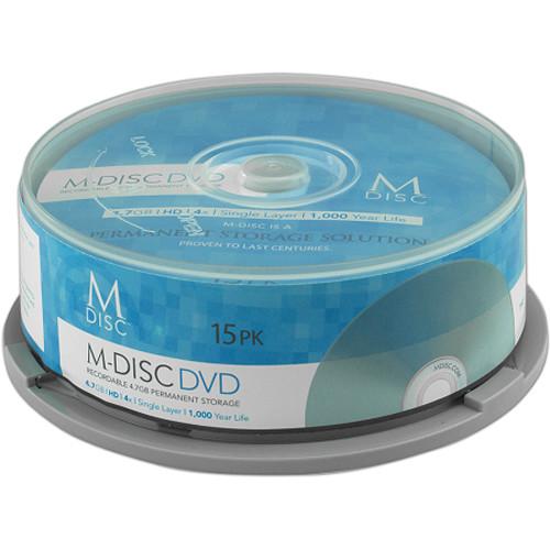 M-DISC DVD-R Discs (15-Pack)