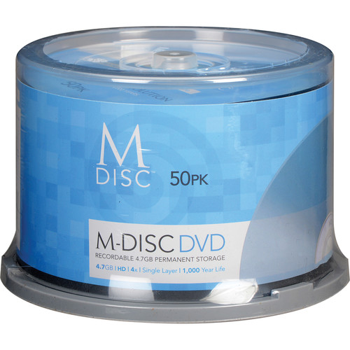M-DISC DVD-R Discs (50-Pack)