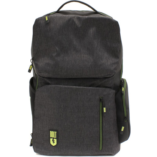 M-Edge Bolt Backpack with Battery (Heather Gray)