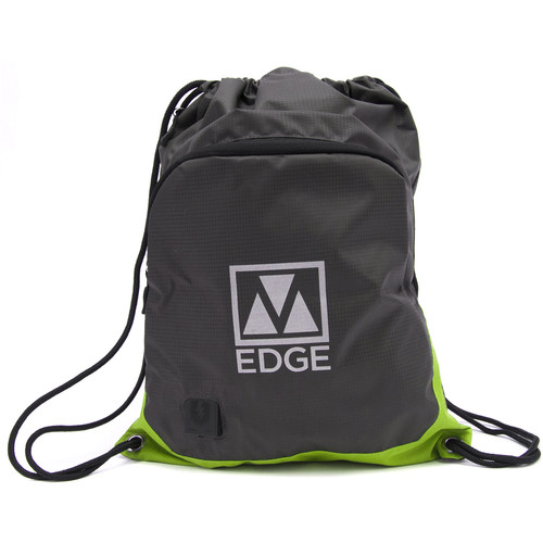 M-Edge Tech Sack Pack with Built-In Battery (Gray/Lime)