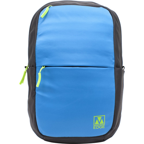 "M-Edge Tech 15"" Laptop Backpack with Built-In Battery (Aqua/Lime)"
