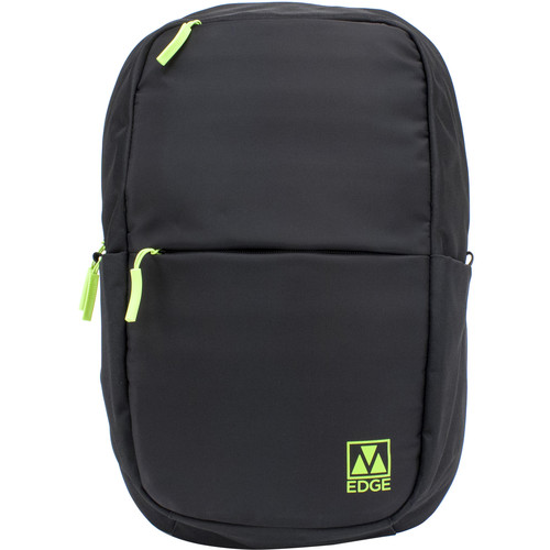"M-Edge Tech 15"" Laptop Backpack with Built-In Battery (Black/Lime)"