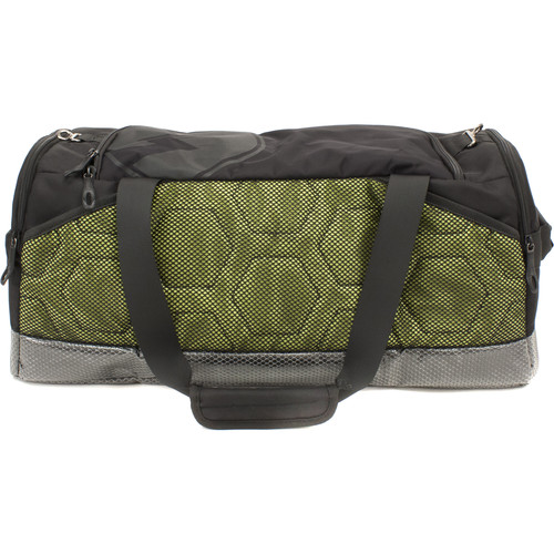 M-Edge Bolt Duffel Bag with 6000mAh Battery (Black and Lime)